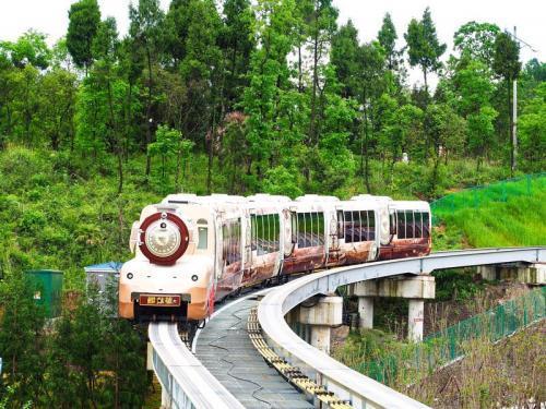 鰼部森林小火车 尽享悠闲时光