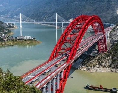 #(经济)(5)湖北秭归长江大桥建成通车