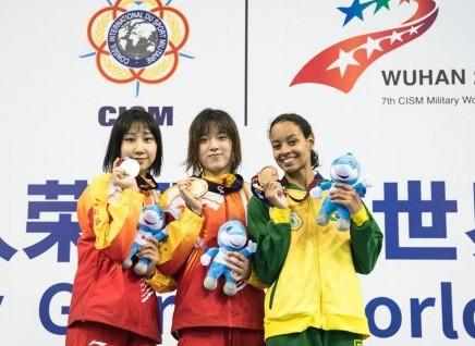 (军运会)(2)水上救生——女子50米假人救生:中国队包揽冠亚军