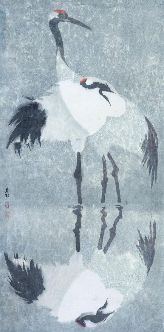 穆益林《天涯客NO.20 冬至》帛画 69×138cm 2008年