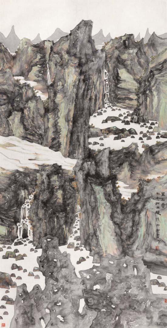 丽石叠 125x245cm 2016年
