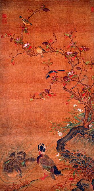 元 任仁发 《秋水凫鹥图轴》上海博物馆藏
