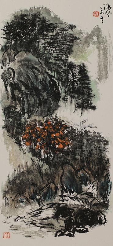 王天民书画作品《冬雨图》