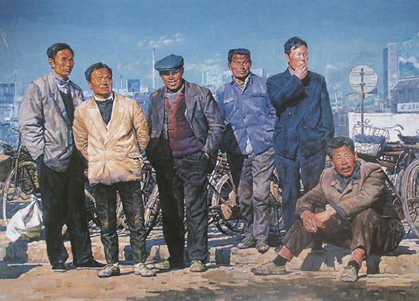 陆庆龙作品《都市随想》