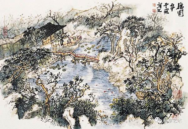 魏云飞 山水写生十三 35x45厘米