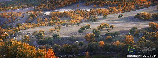 坝上秋色,乌兰布统草原的深秋风光--蛤蟆坝。2013920