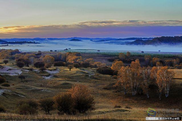 2013920坝上秋色,乌兰布统草原的深秋风光--五彩山。