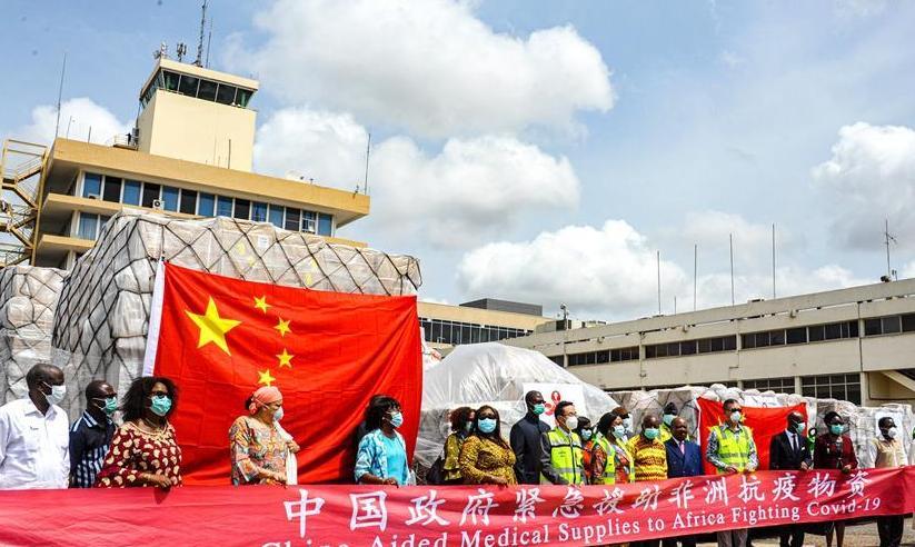 (国际疫情)(1)中国援非抗疫物资运抵加纳