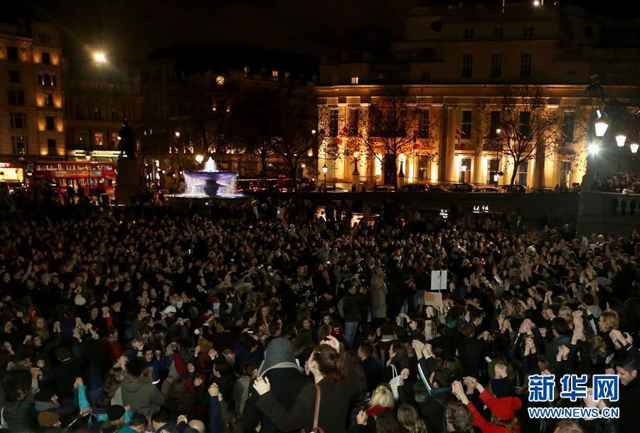 (国际)(2)伦敦悼念巴黎恐袭遇难者