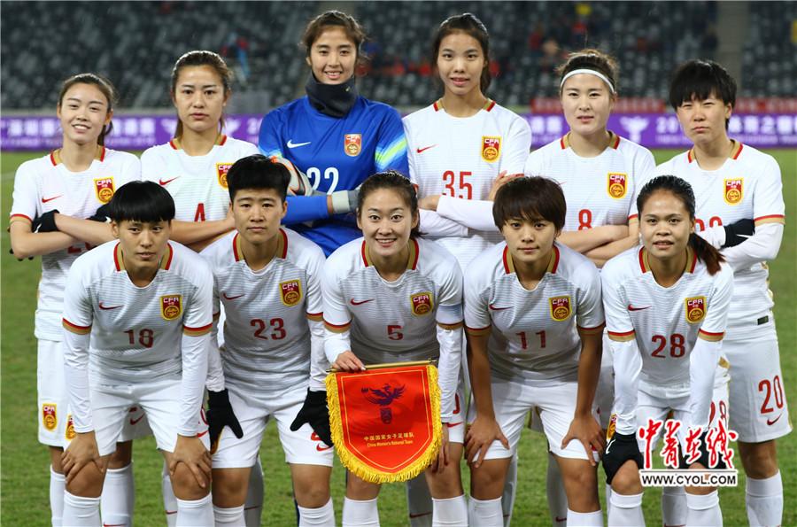 严寒大风何所惧 中国女足8比0大胜越南