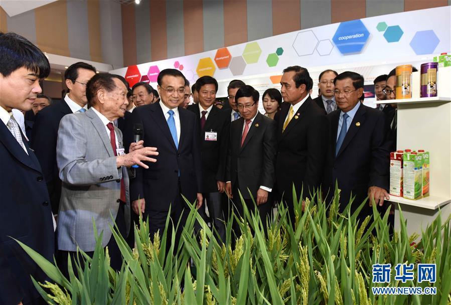 (时政)李克强同湄公河国家领导人共同参观澜湄合作展