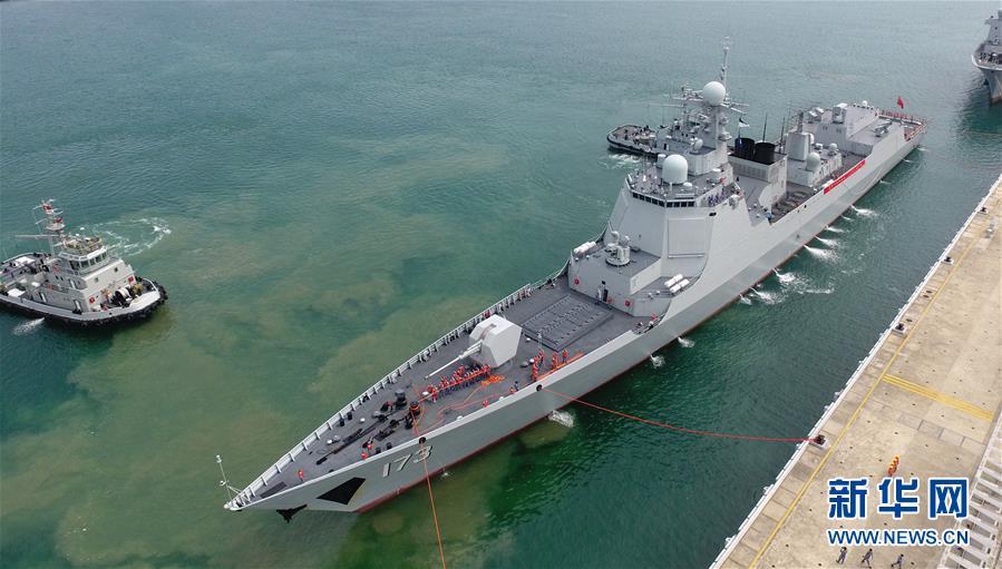 (图文互动)(1)海军南海舰队远海训练编队圆满完成任务返回三亚
