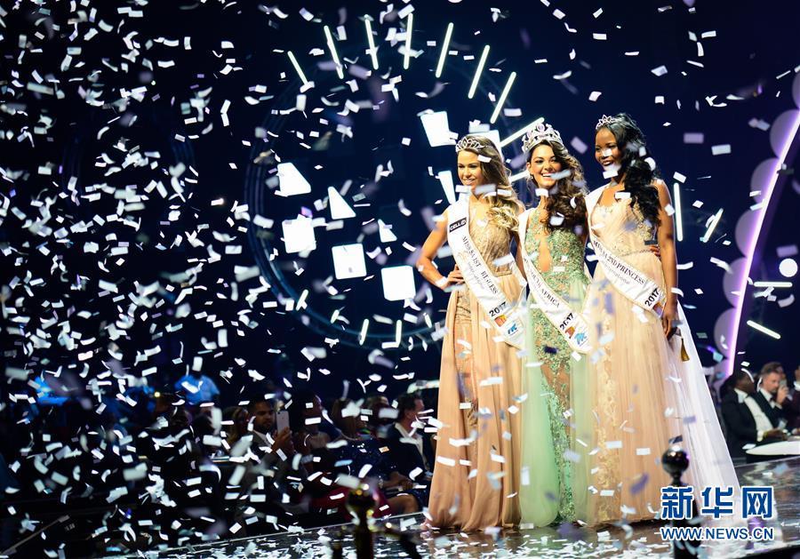 (国际)(1)21岁女孩当选2017年南非小姐