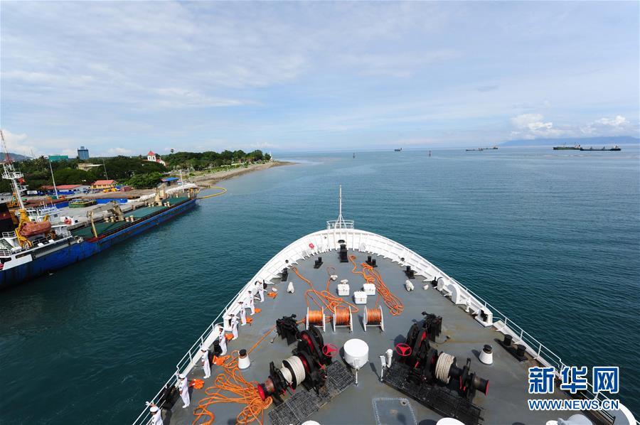(国际)(2)和平方舟医院船结束东帝汶访问启程回国