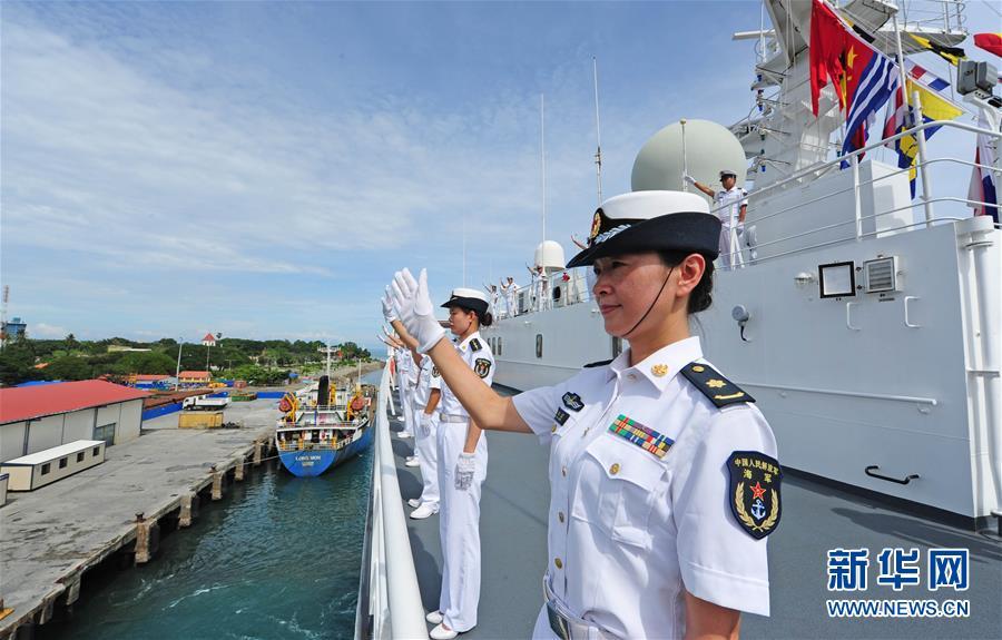 (国际)(3)和平方舟医院船结束东帝汶访问启程回国