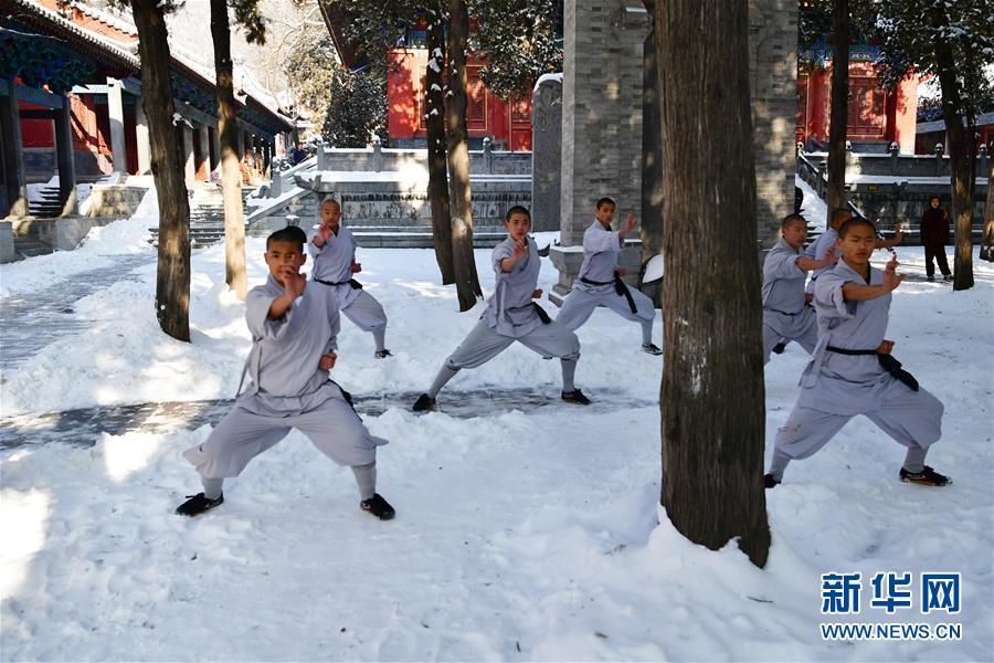 (文化)(8)少林寺武僧雪中展绝技