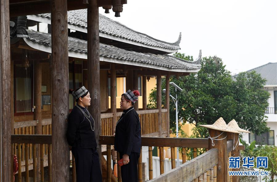 """(新时代新气象新作为)(9)广西南宁:老村""""种""""文化 增收面貌新"""
