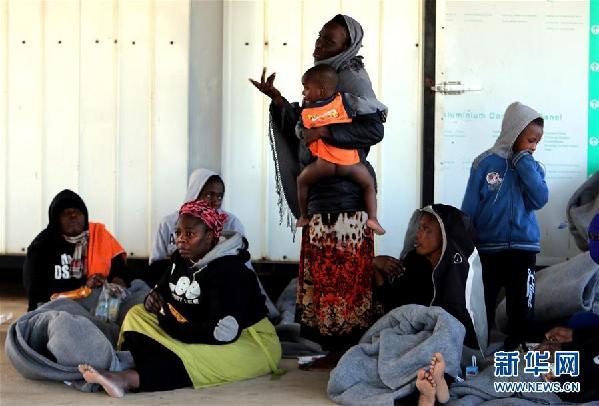 (国际)(3)近300名非法移民在利比亚西部海域获救