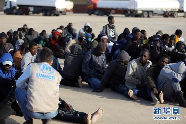 (国际)(5)近300名非法移民在利比亚西部海域获救