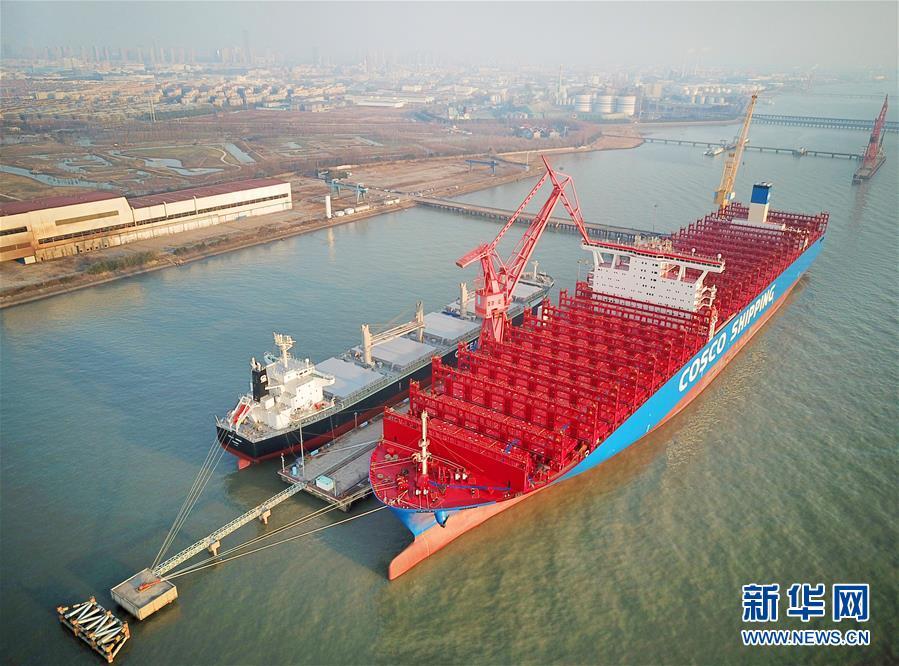 #(经济)(3)江苏南通造20000箱级集装箱船命名交付