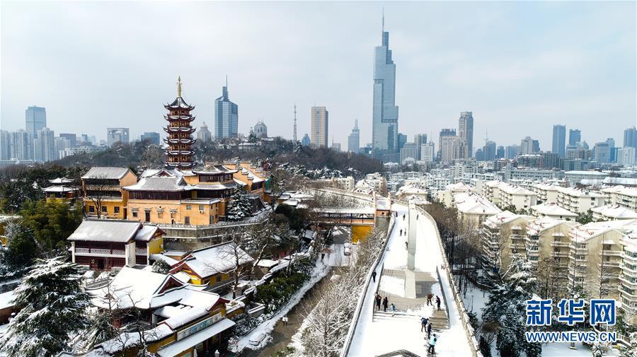 (冬季美丽生态)(1)雪绘俏金陵