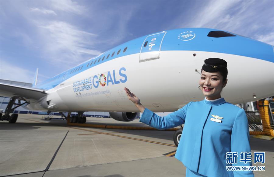 (国际)(1)联合国特殊涂装飞机交付厦航