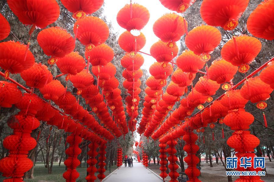 #(社会)(5)北京地坛公园年味渐浓