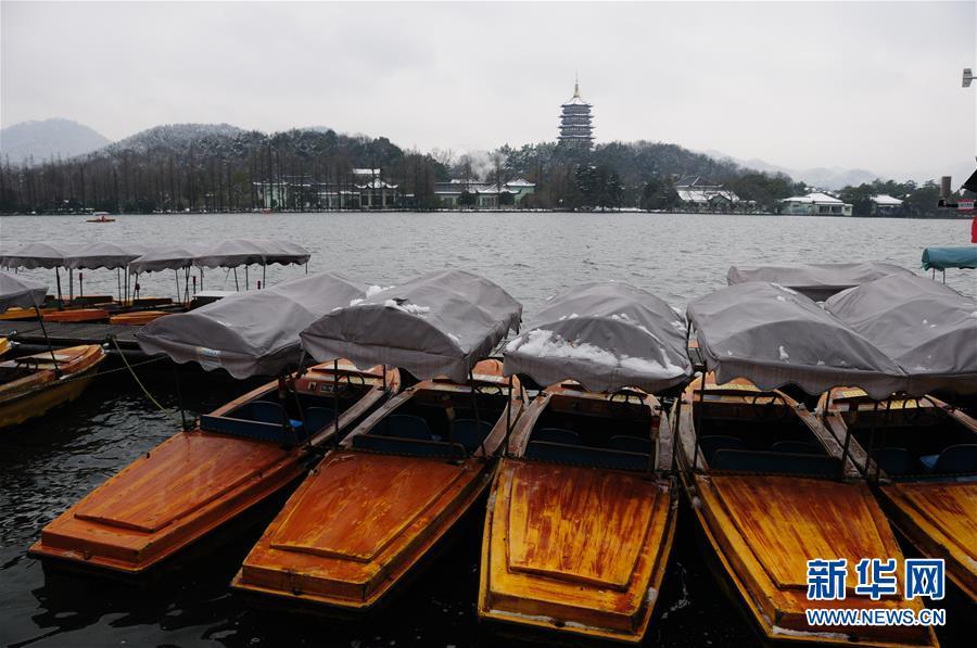(环境)(3)杭州西湖:残雪依稀寒意浓