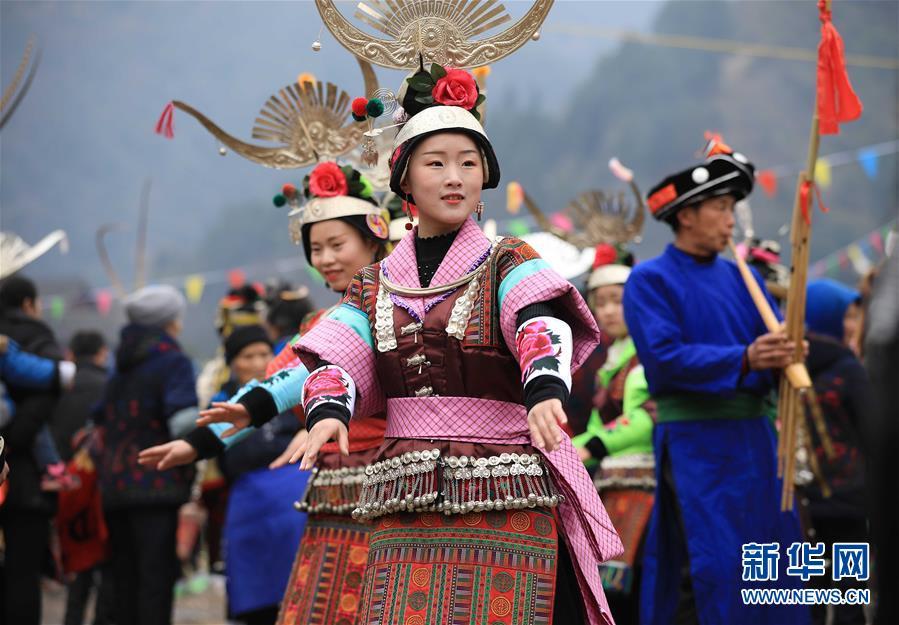 #(社会)(1)贵州丹寨:芦笙会上秀才艺