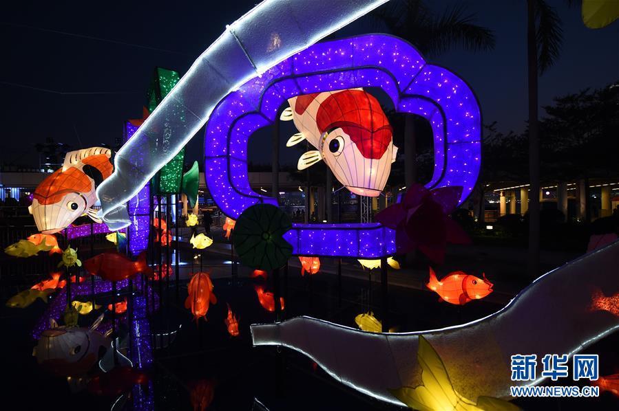 (文化)(2)香港举行春节彩灯展