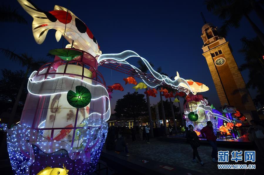 (文化)(3)香港举行春节彩灯展
