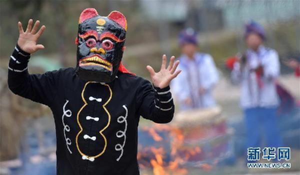 #(文化)(1)湖北恩施:傩戏祈福迎新春