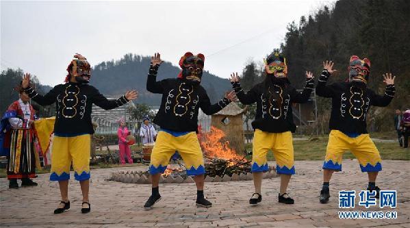 #(文化)(3)湖北恩施:傩戏祈福迎新春