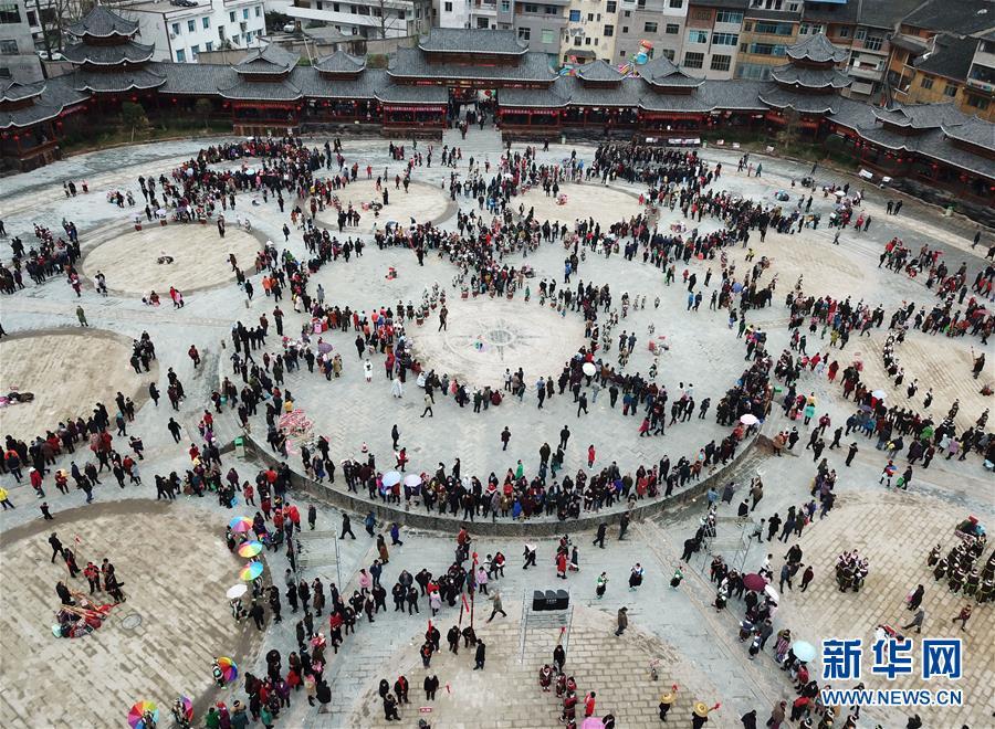 (社会)(1)贵州凯里:芦笙舞步闹新春