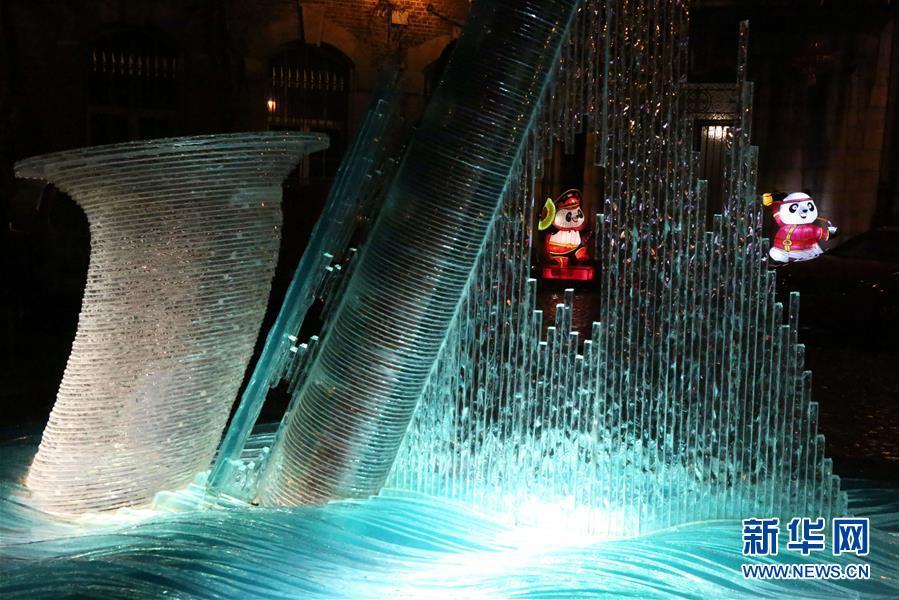 """(国际)(1)中欧""""光之桥""""活动在比利时迪南绽放光彩"""