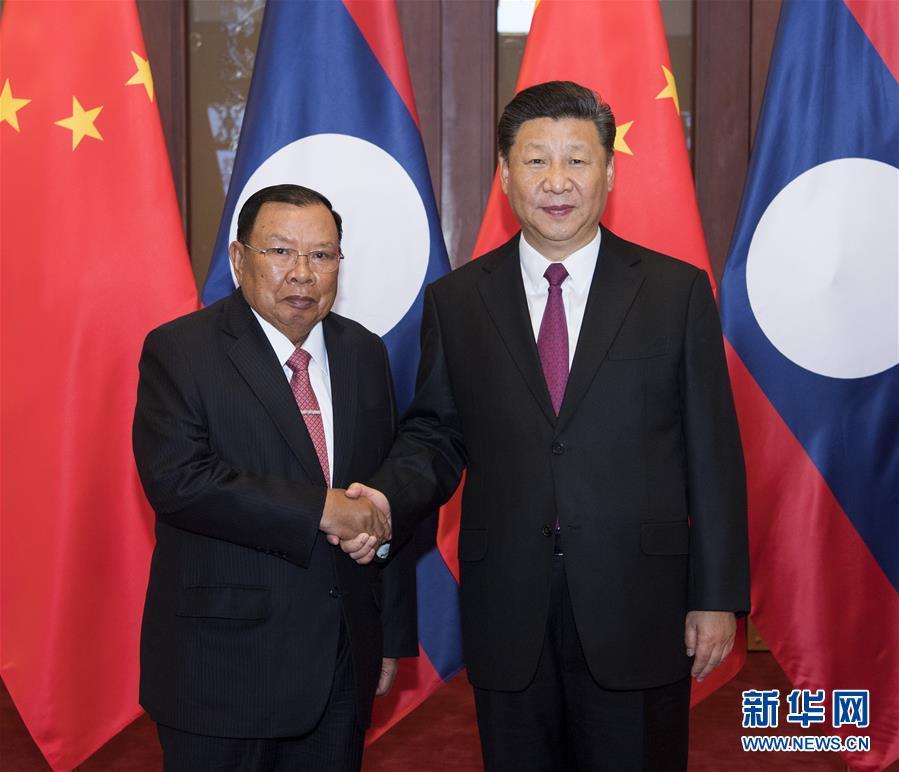 (时政)习近平同老挝人民革命党中央总书记、国家主席本扬举行会谈