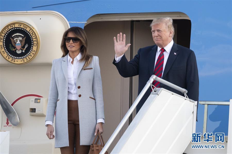 (国际)美国总统特朗普抵达赫尔辛基参加美俄首脑会晤