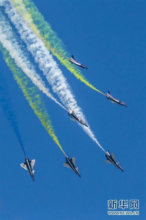 (国际)(1)八一飞行表演队在俄罗斯国际军事技术论坛精彩亮相