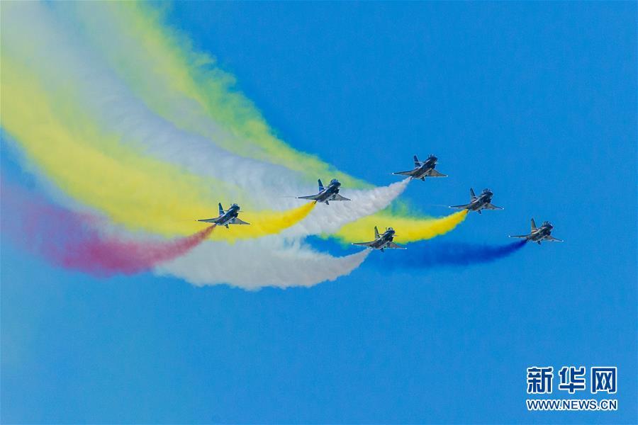 (国际)(6)八一飞行表演队在俄罗斯国际军事技术论坛精彩亮相