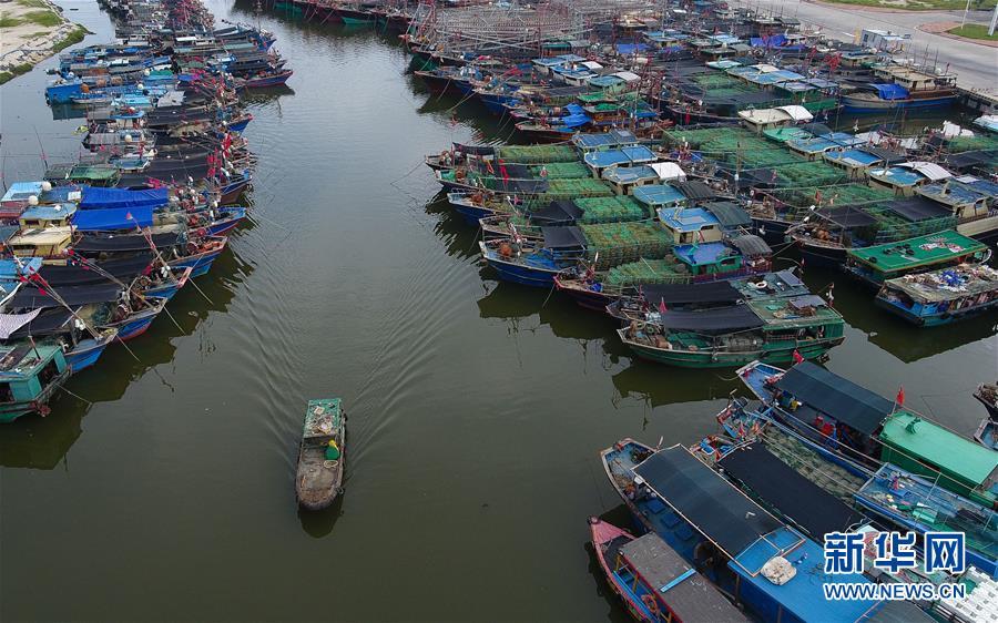 """(环境)(1)海南三亚:渔船回港避""""山竹"""""""