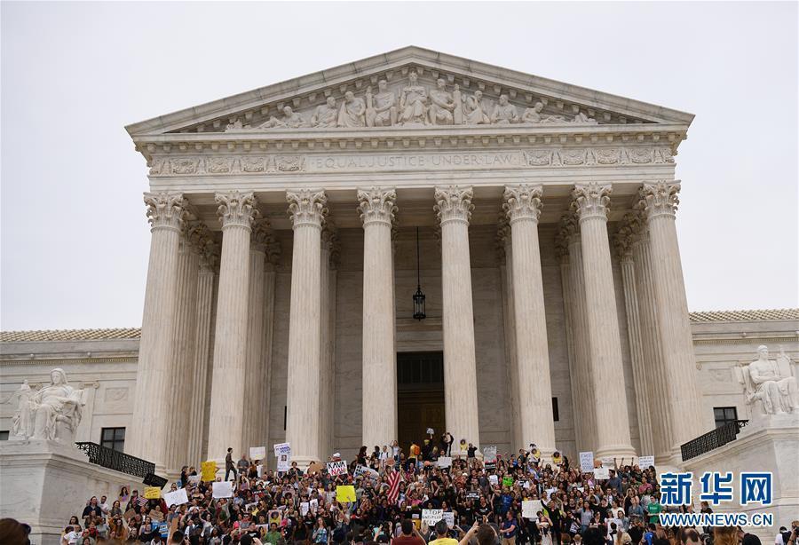 (国际)(1)抗议者反对卡瓦诺出任联邦最高法院大法官