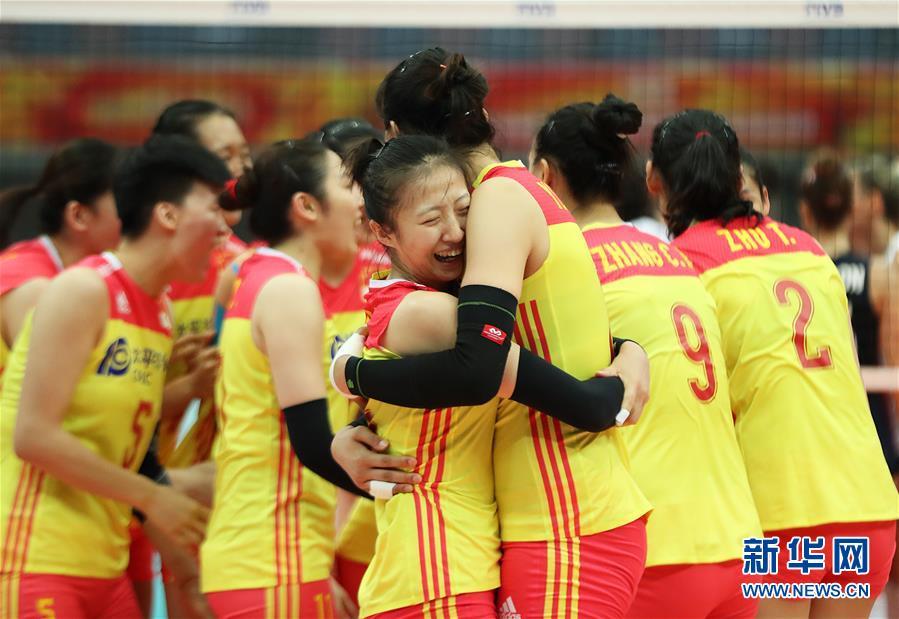 (体育)(10)排球——女排世锦赛:中国胜美国
