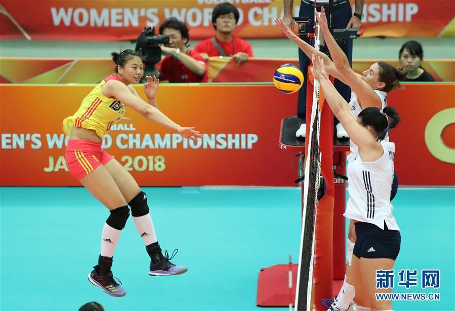 (体育)(2)排球——女排世锦赛:中国胜美国