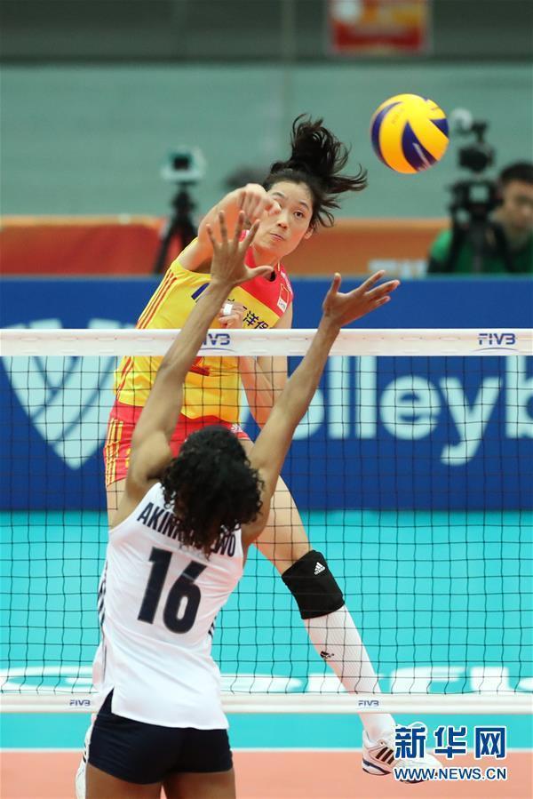 (体育)(3)排球——女排世锦赛:中国胜美国