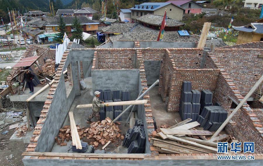 (社会)(1)九寨沟景区加紧灾后恢复重建