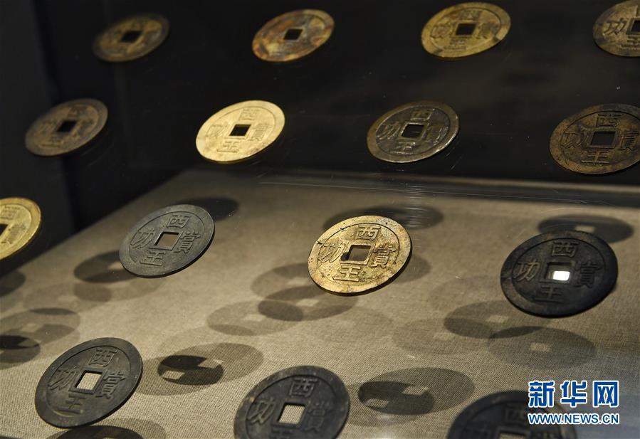 (文化)(2)江口古战场遗址考古出土文物发掘地四川展出