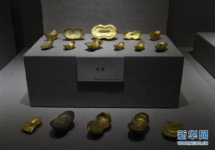 (文化)(1)江口古战场遗址考古出土文物发掘地四川展出