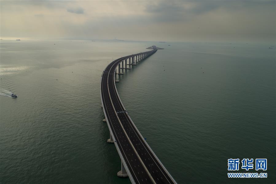 (经济)(8)航拍港珠澳大桥香港段