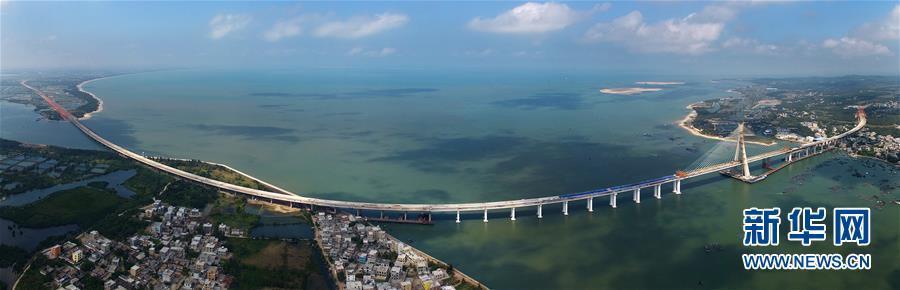 (经济)(1)中国首座跨越地震活动断层桥梁主桥合龙