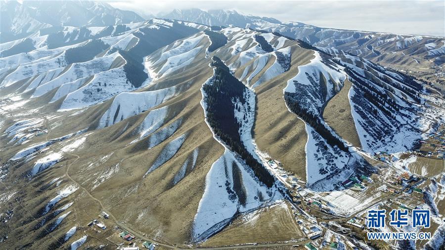 (秋季美丽生态)(8)乌鲁木齐南山雪景美